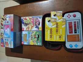 Nintendo Switch Lite Pokemon 2 game kaset + 2 game digital
