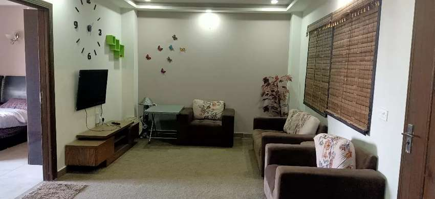 E 11/4 Brand New Qurtuba heights 2bed flat full furnished Available 0