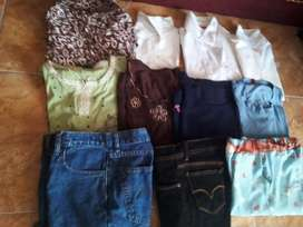 Dijual borongan 8 baju dan 3 celana panjang
