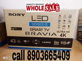 "50% SONY 43""4K ANDROID SMART - LED TV/2 years REPLACE WARRANTY"