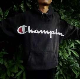 Champion big script japan market hoodie