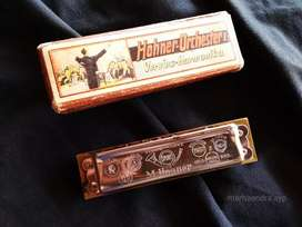 Harmonika hohner kuno, antik, Made in Germany original, tune c