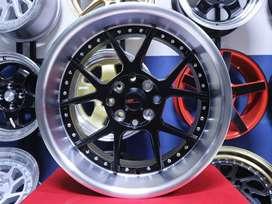 Velg Racing Murah Pelek Mobil HSR Ring 16 Celong Lubang 4 Bisa Kredit
