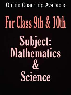 Online Tutor Available (Class 9&10th)
