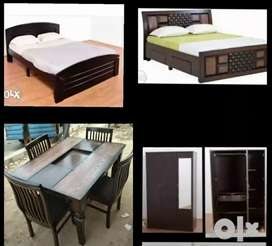 New 4/6 wood double cot just 4899 free delivery