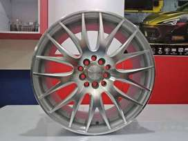 jual velg ring 17 tipe nifty warna silver machine face