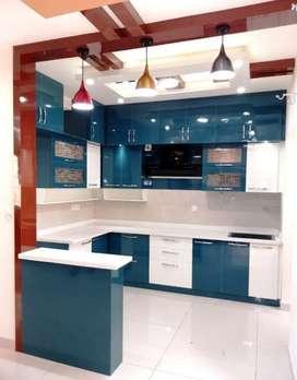 Wardrobes and modular kitchen