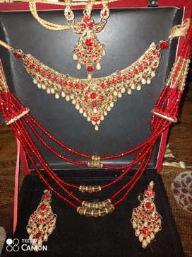 Artificial wedding jewellery set