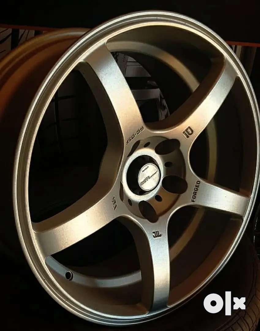 Alloy wheels 17-5*114.3-9j  for Crysta,Innova, Duster , Brezza,Civic,A 0