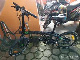 "Sepeda Lipat Ecosmo 8 full original 20"""