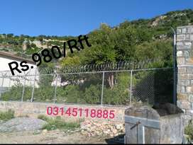 Eid Offer: 160/Rft.  Complete install of Razor Wire. Chainlink Fence