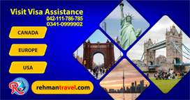 Best Visa Service for Canada / Europe & USA