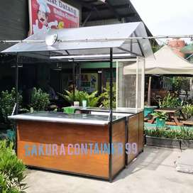 Semi container, booth bazzar, booth kedai, booth makanan, booth cafe