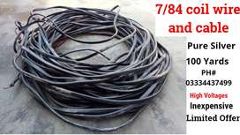 7/84 coil wire and cable 2 core 90 Meter | 100 Yards