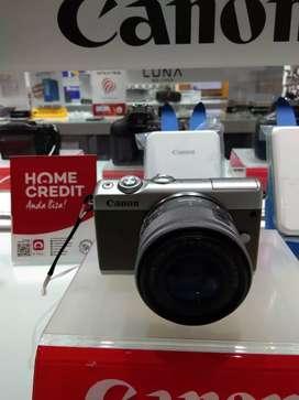 Ready stock Kamera Canom EOSM100 mau dicicil tanpa kartu kredit bisa