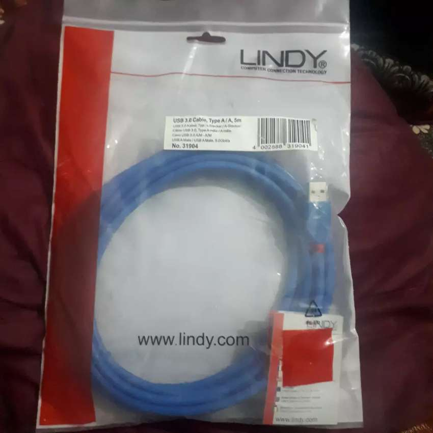 Branded Usb Male to Usb Male Cable Lindy Electronics (31904) 5 m Cable 0