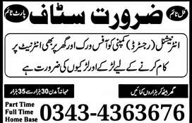 Good News Jobs Opportunities In Our Office Full Time /Part-Time /Home