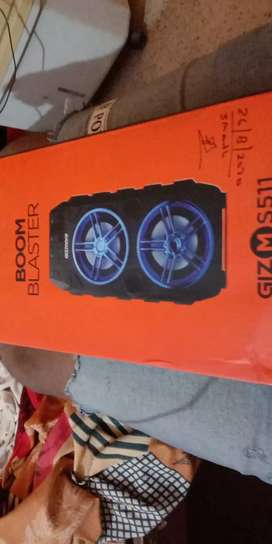 Bluetooth speaker  and FM stereo system chargeable easy to carry  used