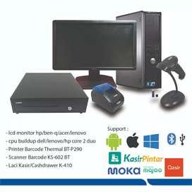 Komputer PC kasir Lengkap Fullset siap pakai system Ipos 4 Teraktivasi