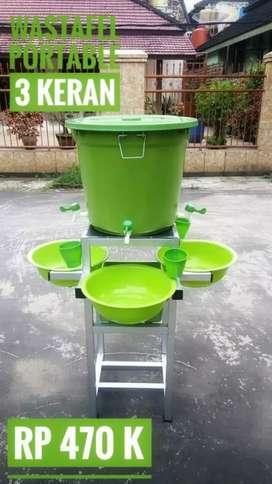 Wastafel Portable / Tempat Cuci Tangan 3 keran