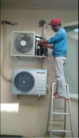 Perbaikan ac bocor air ac kurang dingin pasang ac bongkar AC isi preon