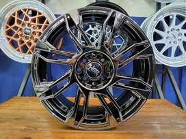 Velg Mobil HSR SIRIUS Ring 16 Black Chrome Untuk Baleno Swift DLL