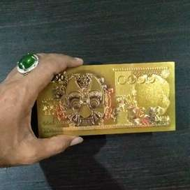 Uang Indonesia GOLD BANKNOTE IDR. 10000 BARONG Gold Foil