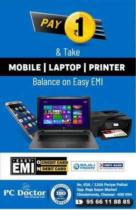 Pay 1*rupee and take Laptop, mobile, printer