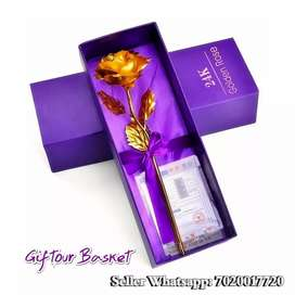 VALENTINE DAY GIFT 24K GOLDEN ROSE WITH BOX