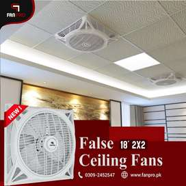 "FANPRO False Ceiling Fan 18"" 2x2 with Noise Free Environment"