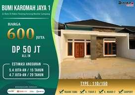 Rumah minimalis di Tanjung seneng