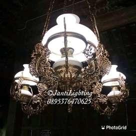 Lampu gantung antik repro dekorasi lampu lawasan lampu joglo murah