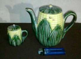 Gelas Hias Keramik Motif Jagung 2 Pcs