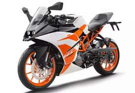 Almost brand new condition KTM RC 200 white