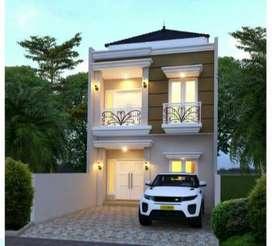 Rumah Inden Desain mewah dalam Cluster akses dekat tol kukusan depok