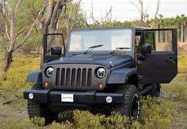 Rubicon jeep modified black paint power steering