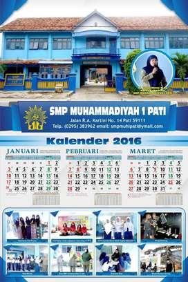 Kalender murah gratis desain isi 3 lembar