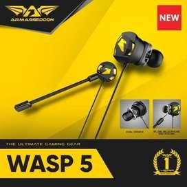 Gaming Earphone Armaggeddon WASP-5 Dual Microphone