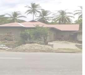 Rumah di kontrakan / disewakan didepan jl. Lintas Sumatera, Solok