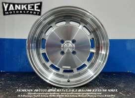 pelek Mobil Nissan March R17X75/85 H4X100 NEMESIS JD7331 HSR