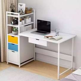 Computer Desk with Shelves Drawers Bookshelf for Home Office Studying