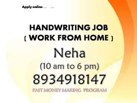 work from home HANDWRITING WORK