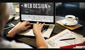 Web designing and create blog Page