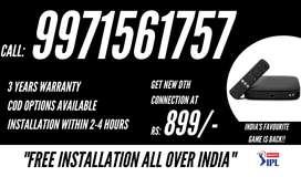 Tata Sky Hd Box New Connection ! Airtel Dth ! Dish Tv ! Tatasky !