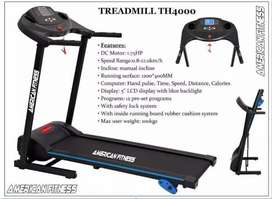 AMERICAN FITNESS MOTORIZED TREADMILL TH 4000 ( 1.75 H.P) DC MOTOR  Y