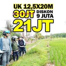tanah kavling 12,5x20m