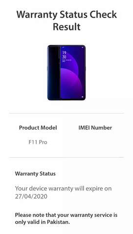 Oppo f11 pro lush condition one hand used