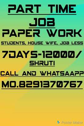Part time job available home based job