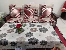 5 Seater sofa with table..@8500