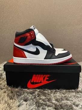 Jual Air Jordan 1 Black Toe Satin Original